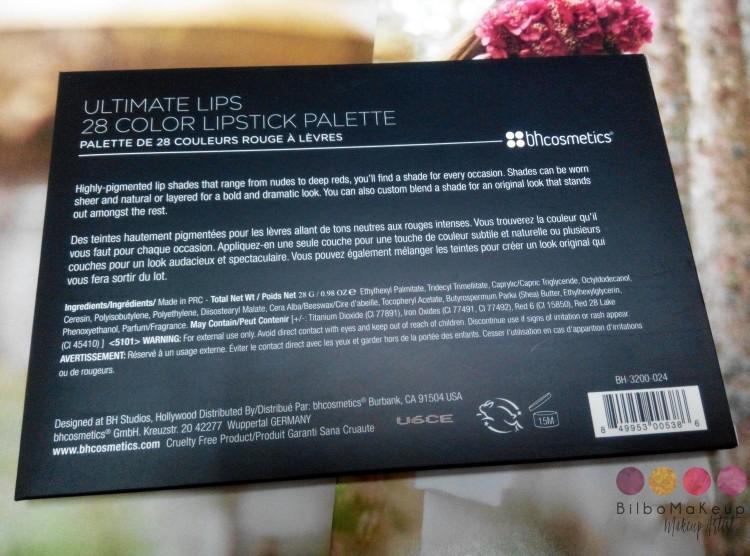 Paleta de labiales de BH Cosmetics